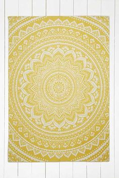 Sahara Medallion 5x7 Yellow Rug