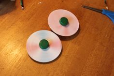 Recycle an old CD into a colorful spinning toy
