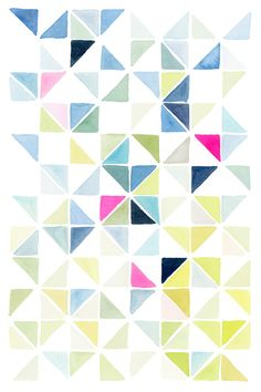 This print represents the element shape. There are many triangles in this picture, and some of the triangles come together to form a square. This print is flat, not 3D.