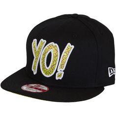New Era Yo! MTV Strapback Cap schwarz/lime