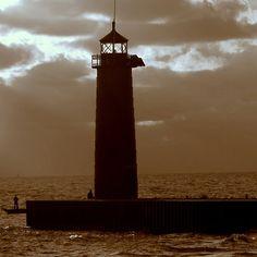 "Sold A Print!  ""Pierhead Lighthouse Kenosha Wisconsin"" Kay Novy (kkphoto1)."