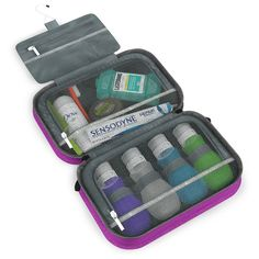 Pack it Flat - Whether traveling on an international airplane or not, you can save space by packing this travel accessories organizer. This incredible packing system is flexible and small so you can easily fit it in your luggage. For more information visit: http://dotdottravel.com/toiletrybag