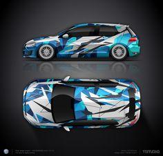 Wrap design concept #14 for VW Golf GTI