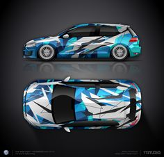 Wrap design concept #14 for VW Golf GTI