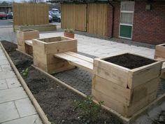Waterside's sensory garden and patio with new railway sleepers Photo 12