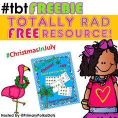 #tbtFREEBIE #ChristmasInJuly Here is a fun beach themed Christmas resource for your classroom. #Christmas #beach #TropicalChristmas #kampkindergarten #free #freebie https://www.teacherspayteachers.com/Product/Christmas-Coconut-Tree-Count-and-Clip-Cards-Sets-to-12-1542626