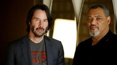 Keanu Reeves and Laurence Fishburne, 2017