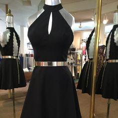 short black homecoming dress,gold belt prom dress,short prom dress,8th grade prom dress