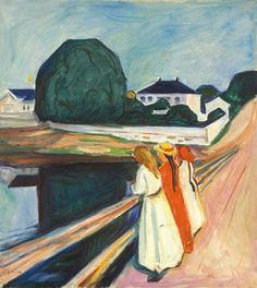 Edvard Munch (1863-1944) - Girls on the Bridge, 1927