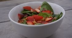 Strawberry Spinach Salad with Bacon Dressing. Healthy and delicious camping recipe! - 50 Campfires