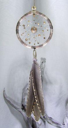Chanvre naturel mural Dreamcatcher Jasper perles par TigerEmporium