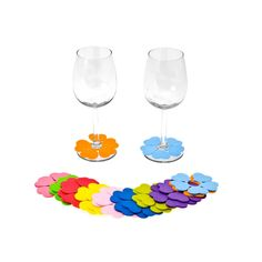 by Summertime Entertaining  Spring Flowers Glass Marker, Set of 20