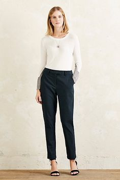 Brushed Peg Leg Trousers #anthropologie