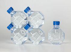 Botella de agua. Colaboración de la marca Luso con Pedrita estudios. Portugal