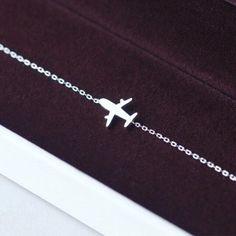 Silver Airplane Bracelet ✈️ Wedding Rings Solitaire, Engagement Wedding Ring Sets, Jewelry Rings, Jewellery, Airplane, Wedding Jewelry, Arrow Necklace, Pendants, Bracelets