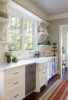 Kitchen Window. Kitchen Casement Window.  Kitchen Casement Window Ideas.  Kitchen Casement Window above Sink. #Kitchen #CasementWindowPaul Dryer Photography.
