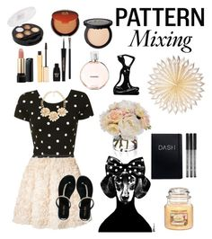 """Pattern Mixing, Follow for a Follow!"" by anadoribeljimenez ❤ liked on Polyvore featuring Chanel, Cultural Intrigue, Glamorous, Edward Achour, Miss KG, Diane James, Stila, Lancôme, Napoleon Perdis and MAC Cosmetics"
