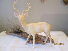 Vintage Large Hard Plastic Christmas Deer, Christmas Display, White  Raindeer by chulapoe on Etsy