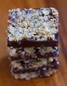 NO BAKE Chocolate Oatmeal Fudge Bars | Chocolate-Covered Katie | Bloglovin'