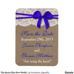 The Rustic Blue Bow Wedding Collection