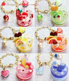 Kawaii Jewelry, Kawaii Accessories, Cute Jewelry, Resin Charms, Polymer Clay Charms, Uv Resin, Resin Art, Diy Resin Crafts, Diy And Crafts