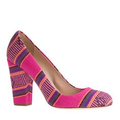 J.Crew - Collection Blakely summer stripe pumps $298 Crazy bright, and that's why I love them!