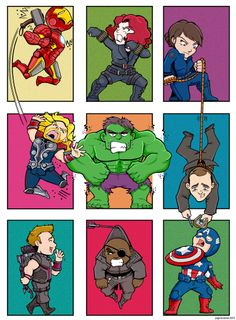 Avengers Blocks by Saturn-Kitty || Tony Stark, Natasha Romanoff, Maria Hill, Thor Odinson, Bruce Banner, Phil Coulson, Clint Barton, Nick Fury, Steve Rogers || 736px × 1,000px || #fanart