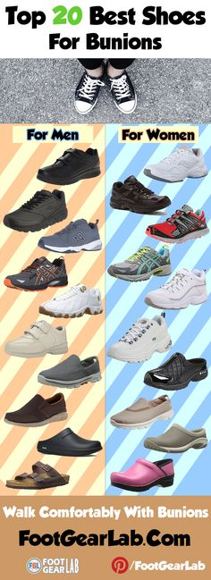 Best Shoes for Bunions – Walk Comfortably With Bunions. @footgearlab #BestShoesForBunions #ShoesForBunions #Bunions