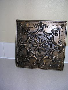 Love the Decor: Decorative Tin Tile transformation