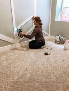 Accent Walls In Living Room, Accent Wall Bedroom, Bedroom Decor, Shiplack Walls, Herringbone Wall, Using A Paint Sprayer, Focal Wall, Board And Batten, Wall Treatments
