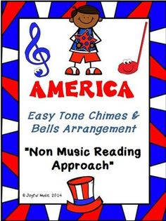 "***FREE***  ""Non-music reading"" approach for the song, AMERICA. It is not meant to be an accompaniment for singing but rather the entire melody and accompaniment is written in order to be played so that it may be performed, whether in the classroom or for a program.    While music theory is taught and reviewed, this approach gives students a sense of accomplishment in learning to ""read and perform"" in a short period of time. Students enjoy this feeling of ""playing in an ensemble."""