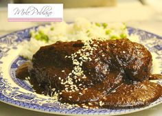 Mole Poblano, a classic dish that is also served to the dead loved ones on their altar the day of the dead.