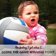 The feeling I get...  Thanks to Matt and his family for this wonderful photo of their future NCAA volleyball star!