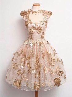 Коктейльные платья в винтажном стиле 3 vestido dorado, vestidos blancos, damas, vestidos para Simple Homecoming Dresses, Prom Dresses, Formal Dresses, Cheap Dresses, Short Dresses, Golden Dress, Dresser, Vestidos Vintage, Applique