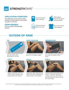 Outside of Knee Kinesiology Taping