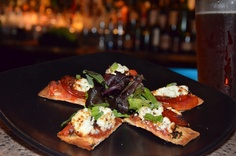GRILLED CHORIZO FLAT BREAD – With Roasted Tomato and Melted Goat Cheese