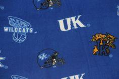 NCAA University of Kentucky Wildcats Fleece V2 Fabric by the yard