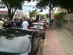 Policiais civis saem em protesto por morte de colega morto (Foto: Viviane Machado/ G1)