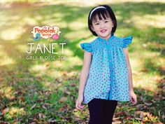 JANET Blouse Top PDF Sewing Pattern & Tutorial by Popolok Design - Girl Sizes Age 1 to 8 by popolok on Etsy https://www.etsy.com/uk/listing/249066162/janet-blouse-top-pdf-sewing-pattern