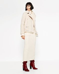 Image 1 of SUEDE EFFECT AND FLEECY JACKET from Zara