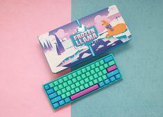 More innovative, more progressive, focus on what we do - Switch The World. Computer Gaming Room, Gaming Room Setup, Pc Setup, Keyboard Keys, Mini Keyboard, Computer Keyboard, Diy Mechanical Keyboard, Diy Pc, Retro Typewriter