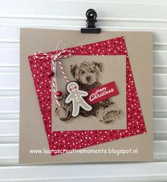 """Merry Christmas, """"Baby Bear"""" & Candy Cane Lane DSP, Stampin' Up!"""