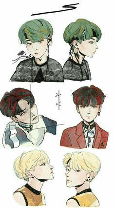 Kpop Drawings, Art Drawings, Chibi, Hugs And Cuddles, Pop Stickers, Bts Aesthetic Pictures, Kpop Fanart, Portraits, Art Challenge
