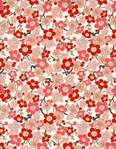 The Japanese Paper Place stocks and distributes, in wholesale and retail, over different collection of fine Japanese paper. Pattern Floral, Motif Floral, Red Pattern, Pattern Paper, Pattern Art, Flower Patterns, Floral Prints, Japanese Textiles, Japanese Patterns