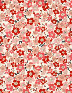 Japanese blossom pattern