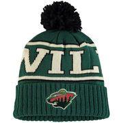 ab0f3c35b7a Men s Minnesota Wild Reebok Green Team Cuffed Knit Hat with Pom