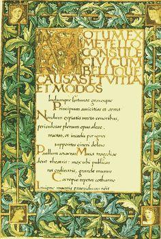 Illuminated manuscript of The Odes of Horace (1876), William Morris