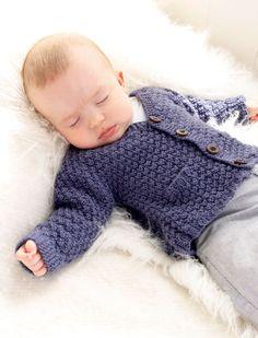 Checco& Dream / DROPS Baby - Free Knitting Pattern Checco's Dream / DROPS Baby – Kostenlose Strickanleitungen von DROPS Design Knitting pattern jacket - Baby Boy Knitting Patterns, Baby Cardigan Knitting Pattern, Knitted Baby Cardigan, Knit Baby Sweaters, Knitted Baby Clothes, Baby Clothes Patterns, Knitting For Kids, Crochet For Kids, Baby Patterns