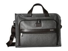 Tumi - Alpha 2 - Slim Deluxe Portfolio (Earl Grey) Briefcase Bags - Brought to you by Avarsha.com