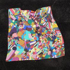 Silk scarf design by MOGOLLON